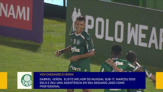"""Fabíola Andrade se rende ao futebol de Gabriel Veron, do Palmeiras: """"Camisa não pesou"""""""