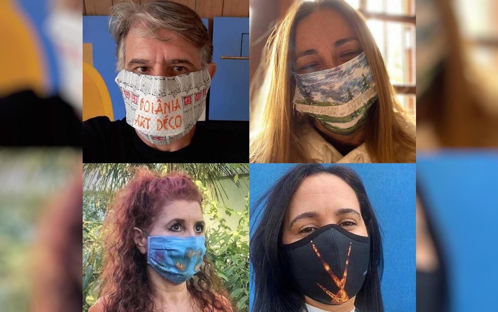 Artistas de Goiás transformam máscaras em obras de arte e expõem na internet