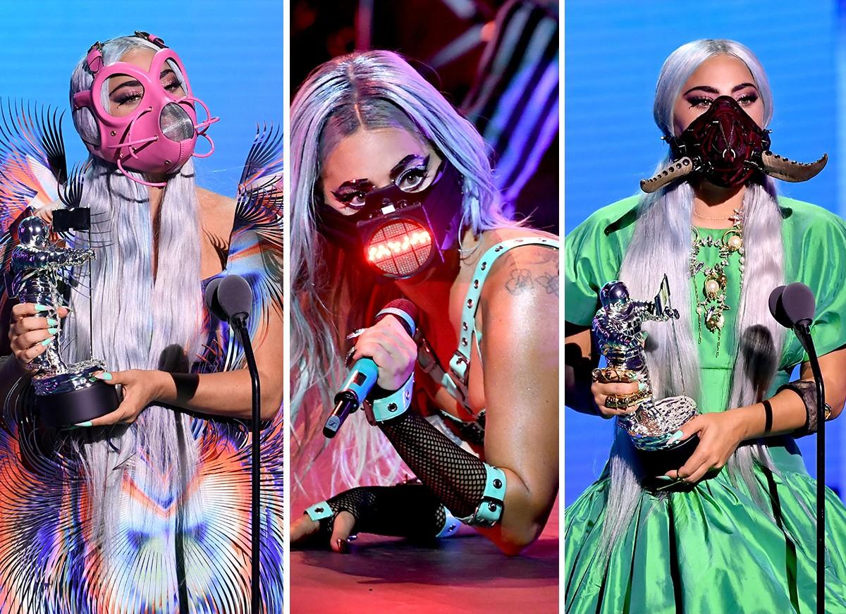 Lady Gaga inova com máscaras diferentes no VMA 2020 - Quem | QUEM News
