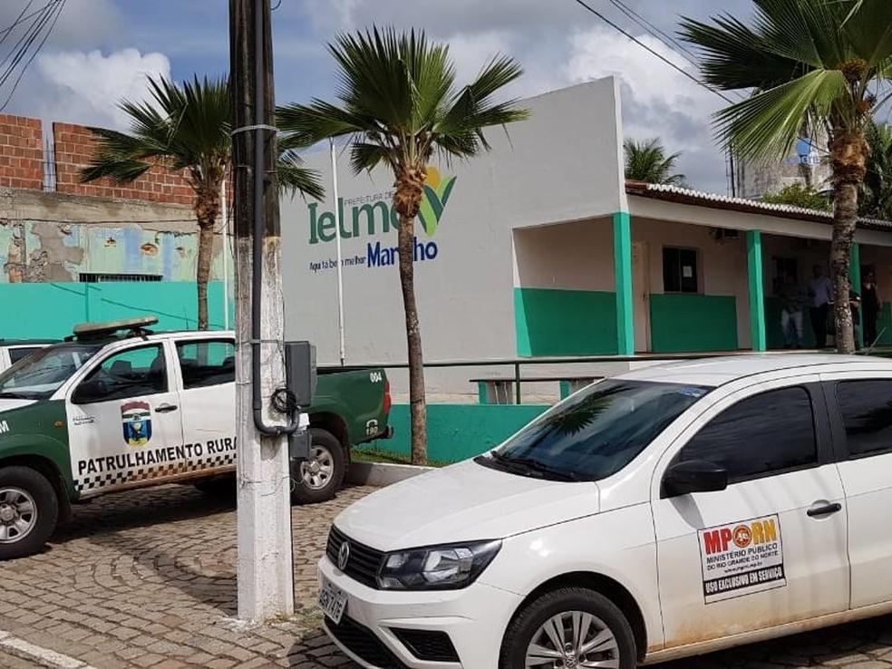 Operação do MP cumpriu mandado na Prefeitura de Ielmo Marinho, na Grande Natal. — Foto: MPRN/Divulgação