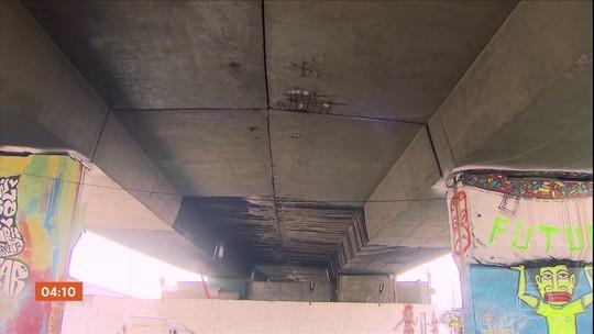 Viaduto na Zona Oeste de São Paulo é interditado para passagem de veículos pesados