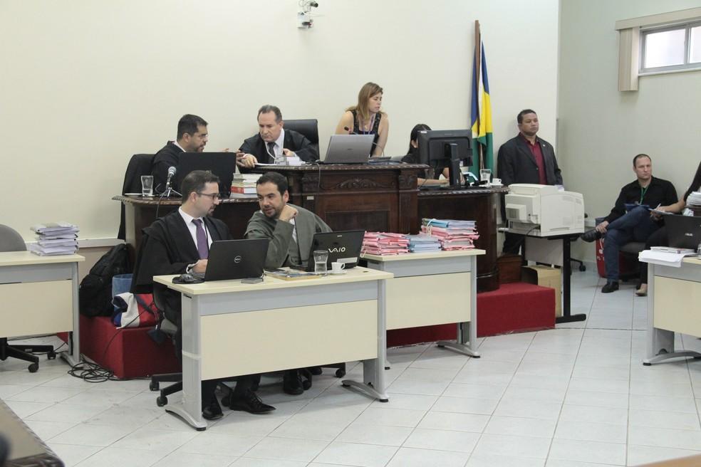 Julgamento Naiara Karine 2016, em Porto Velho, RO — Foto: TJ-RO/Divulgação
