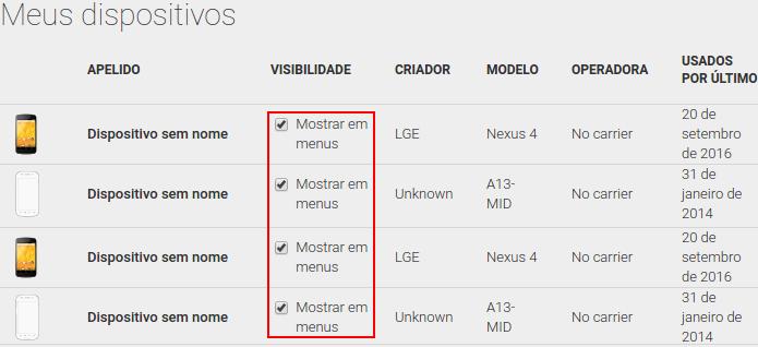 Removendo um dispositivo da listagem do menu de instalação (Foto: Reprodução/Edivaldo Brito)