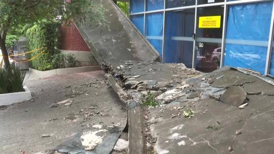 Câmeras de segurança podem ajudar na investigação sobre queda de marquise em SP