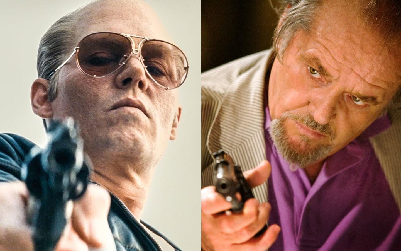 Johnny Depp e Jack Nicholson em papeis inspirados em James Whitey Bulger (Foto: Divulgação)