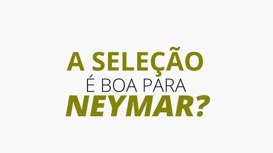 Neymar é bom para a Seleção ou a Seleção é boa para Neymar? Confira os números