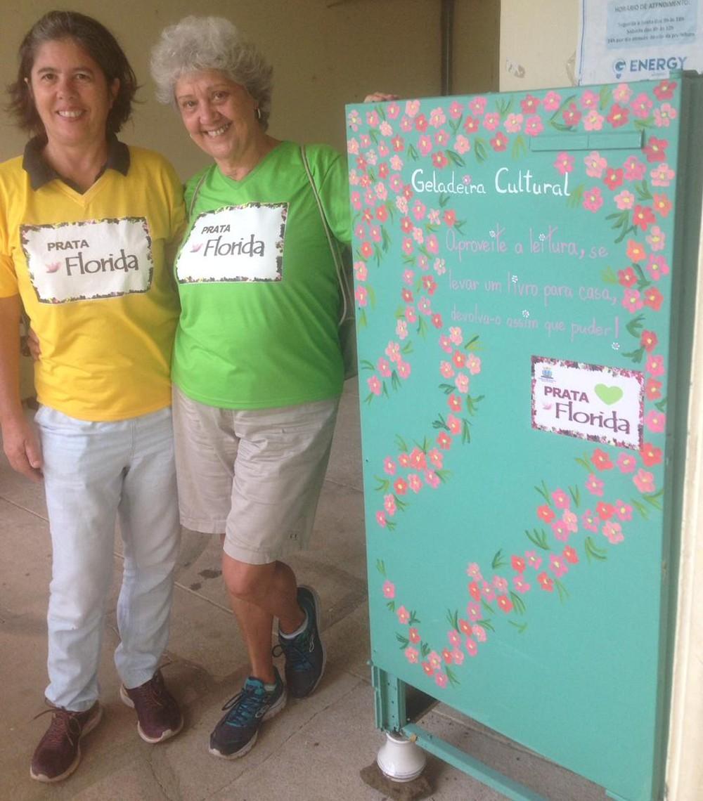 Grupo Prata Florida já disponibilizou três geladeiras culturais em Águas da Prata — Foto: Arquivo Pessoal