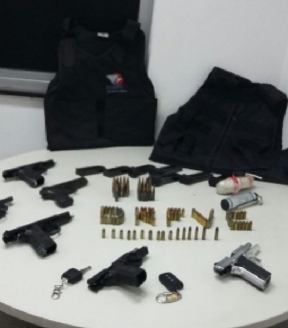 O grupo criminoso, que financiava suas ações ilícitas com dinheiro oriundo de assaltos, foi desarticulado na noite de terça-feira (19). (Foto: SSPDS/Divulgação)