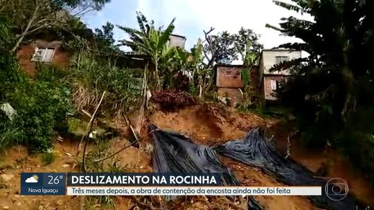 Obras de contenção na Rocinha ainda não começaram