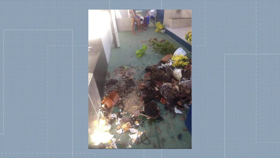 Traficantes ameaçaram colocar fogo no local — Foto: Reprodução/TV Globo