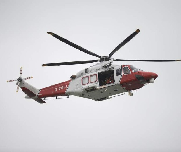 O helicóptero onde a mulher deu à luz (Foto: Reprodução)