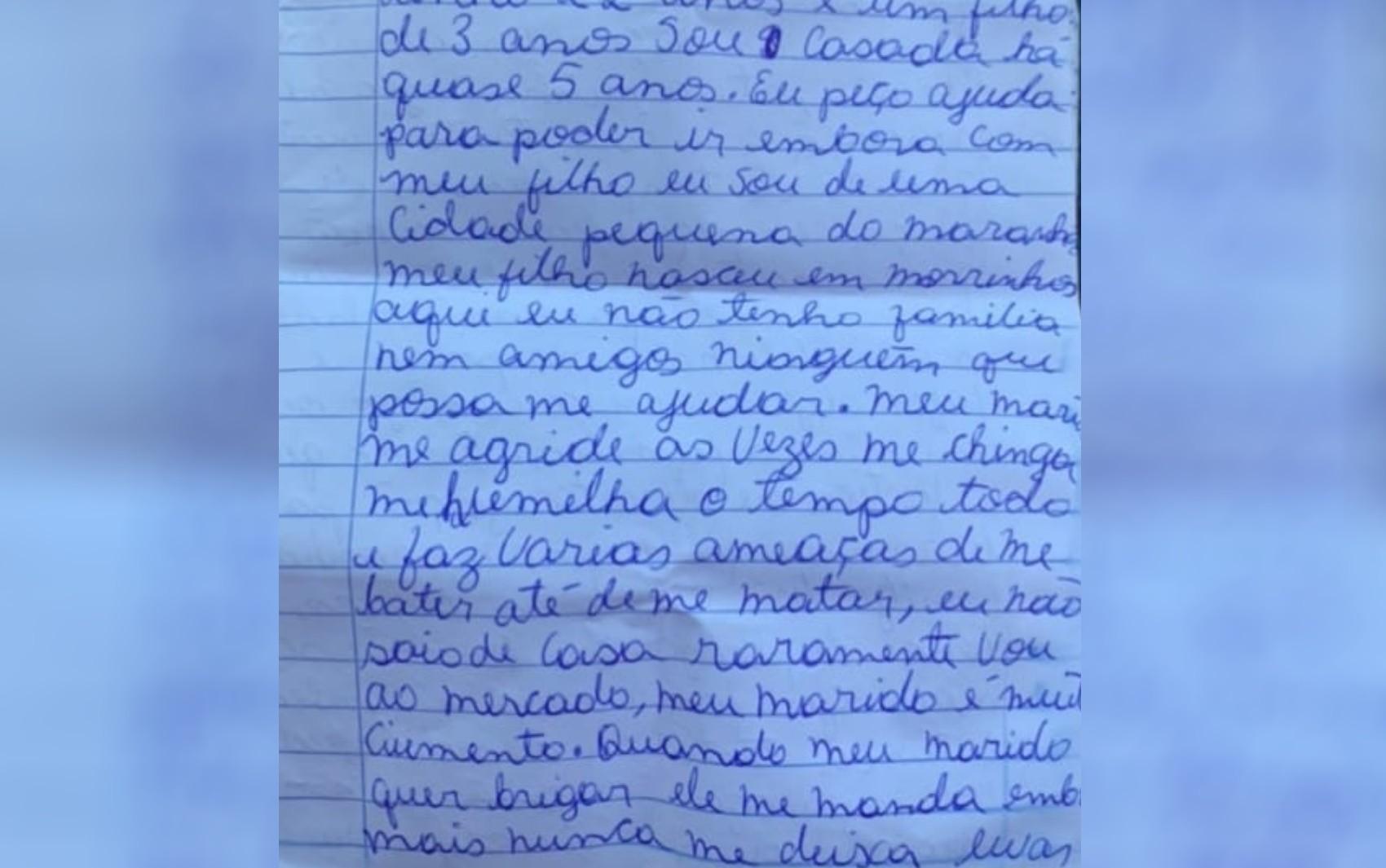 Homem é preso após esposa escrever carta pedindo por socorro: 'Não quero mais apanhar'