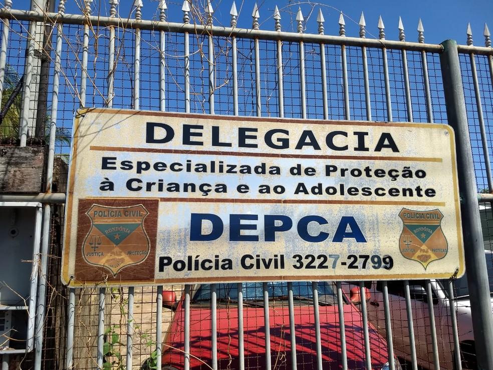 Caso é investigado pelo Delegacia Especializada de Proteção à Criança e ao Adolescente em Porto Velho — Foto: Diêgo Holanda/G1