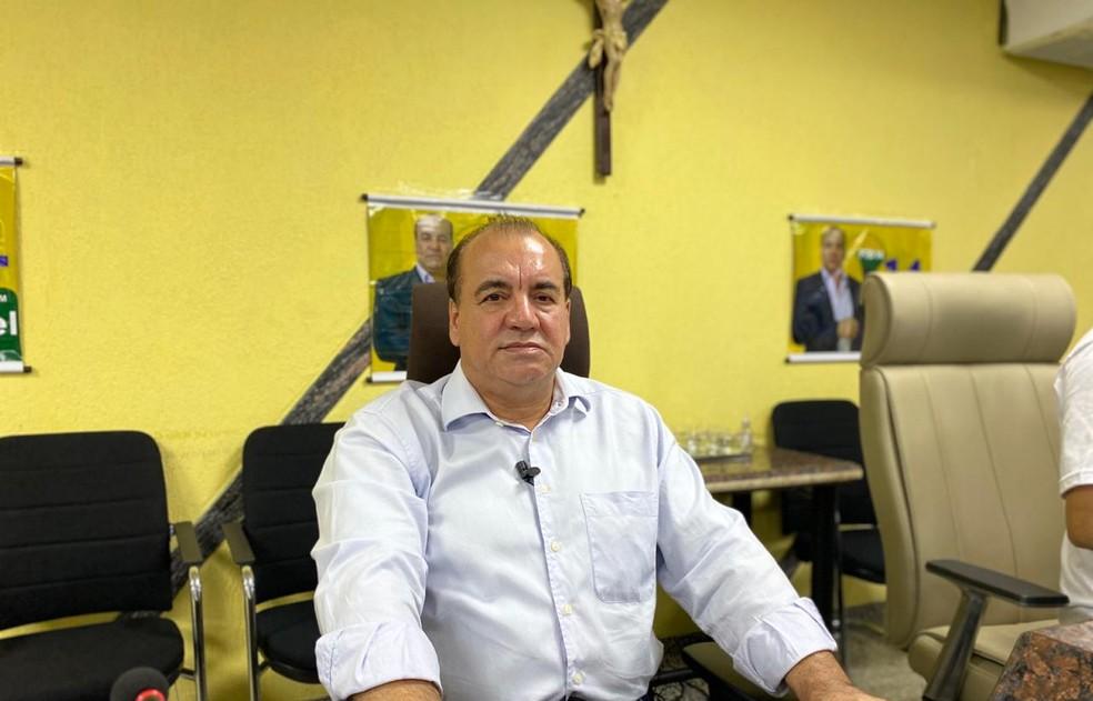 Leonel Bertolin foi o escolhido do PTB para disputar a vaga de prefeito de Porto Velho.  — Foto: Jefferson Carvalho/Rede Amazônica