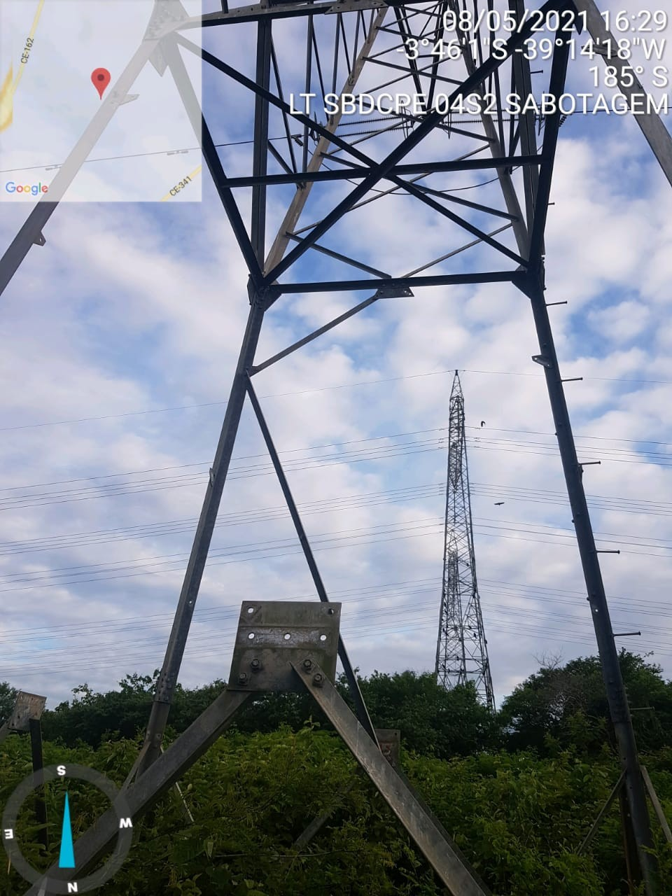 Furto e desmonte de peças de torres de transmissão podem causar apagão em Fortaleza e região metropolitana, alerta Chesf