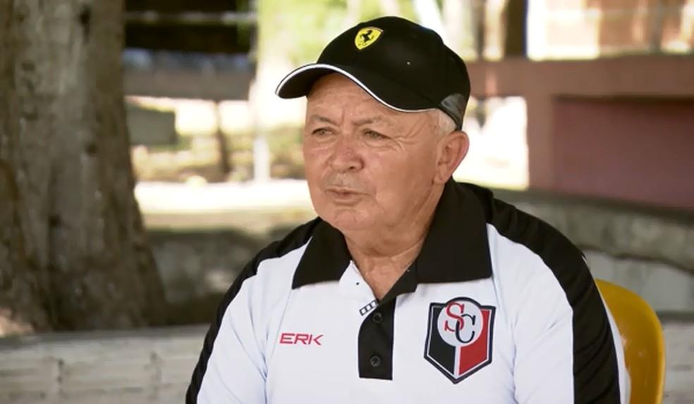 João Nobre, o Quebra Osso, presidente do Santa Cruz (RN) e quem descobriu Gabriel Veron — Foto: Jordi Bordalba