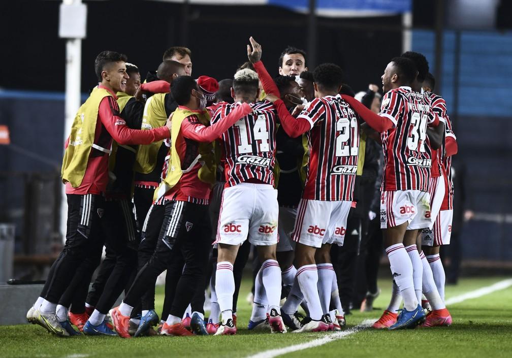 Jogadores do São Paulo — Foto: Staff Images / CONMEBOL