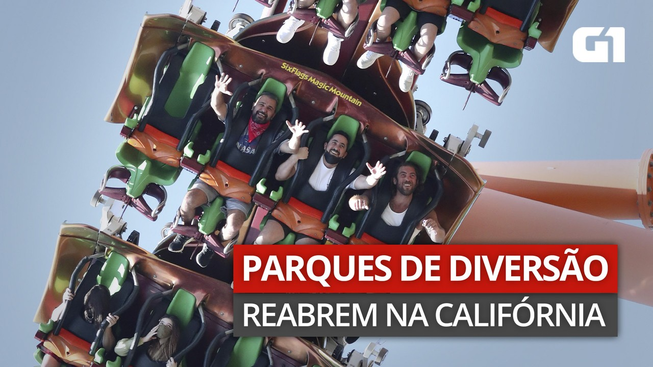 VÍDEO: Parques de diversão da Califórnia reabrem após quase 1 ano fechados