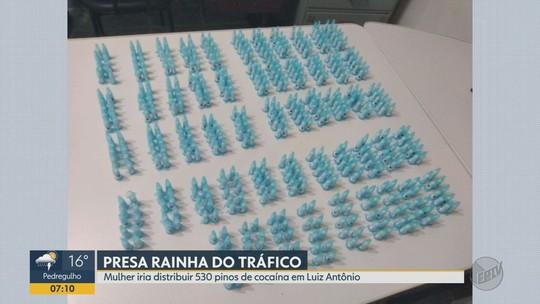 Jovem presa por tráfico é flagrada com 530 pinos de cocaína em Luís Antônio, SP