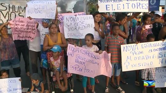População interdita rodovia no Maranhão