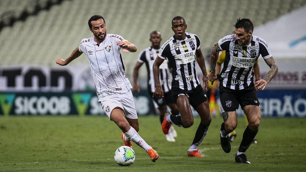 Em novo posicionamento, Nenê evolui e faz o Flu crescer — Foto: Lucas Merçon / Fluminense FC