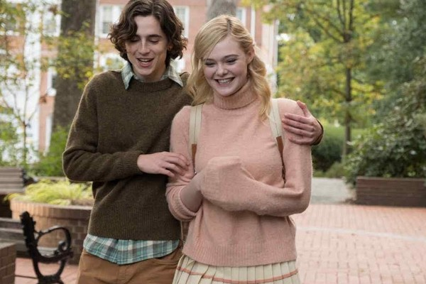 Timothée Chalamet, and Elle Fanning in a scene from A Rainy Day in New York city (2019), Woody Allen (Photo: Playback)