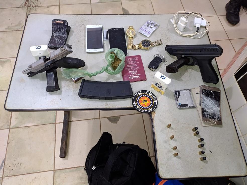 Presos cinco suspeitos de explodir e assaltar agências bancárias em Campo Maior — Foto: Divulgação/PM-MA