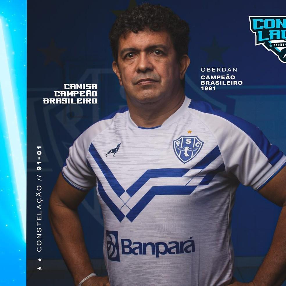 Novo uniforme do Paysandu para a temporada — Foto: Divulgação