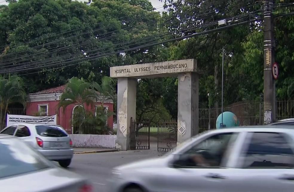 Hospital Ulysses Pernambucano fica na Zona Norte do Recife (Foto: Reprodução/TV Globo)