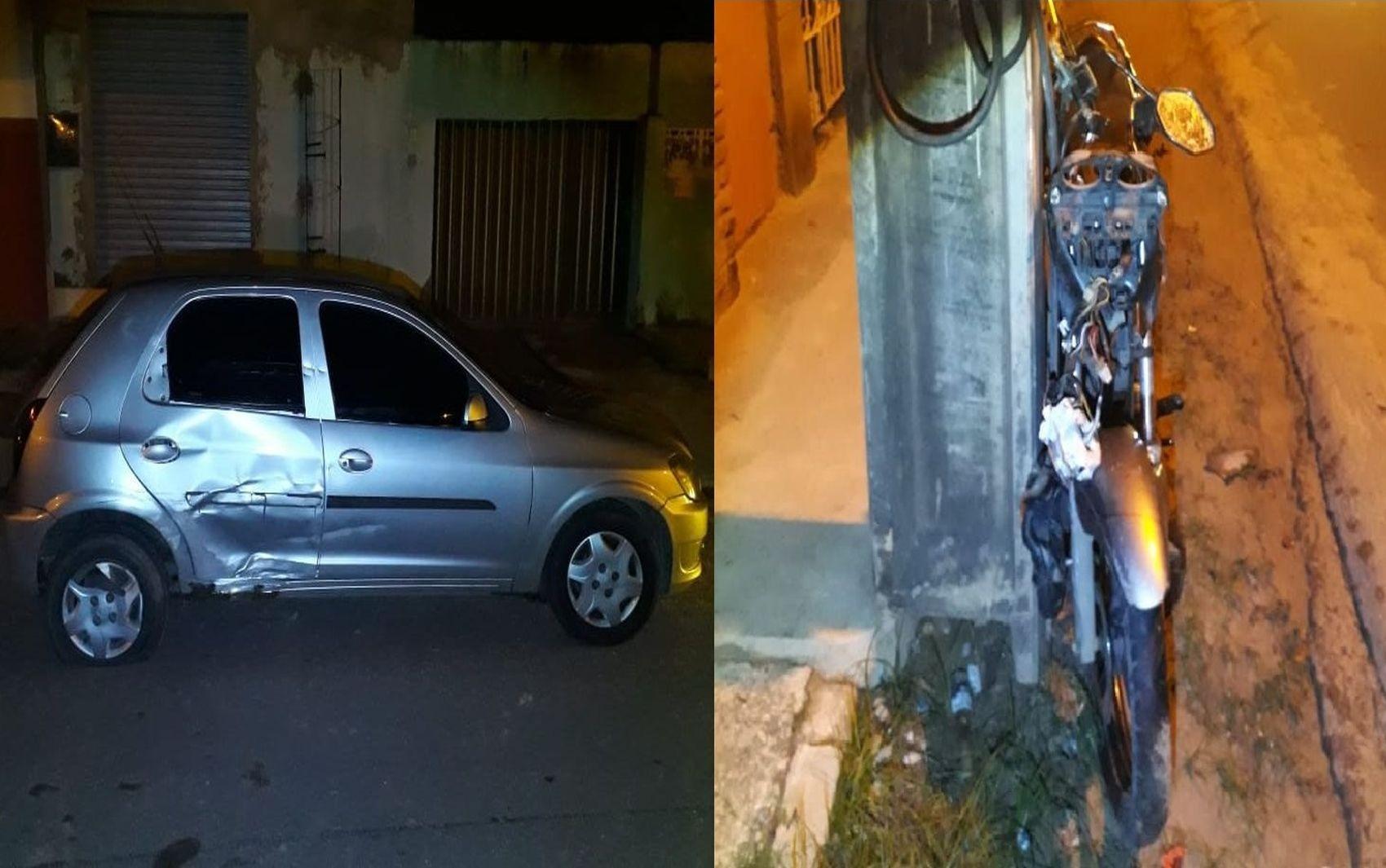 Motorista embriagado é preso após bater em motocicleta no Bairro Santa Maria