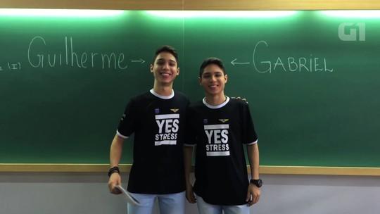 Gêmeos de Goiás se preparam para vestibular do mesmo curso no ITA