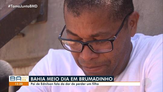 Baiano foi demitido de terceirizada da Vale dois meses antes da tragédia em Brumadinho; filho morreu