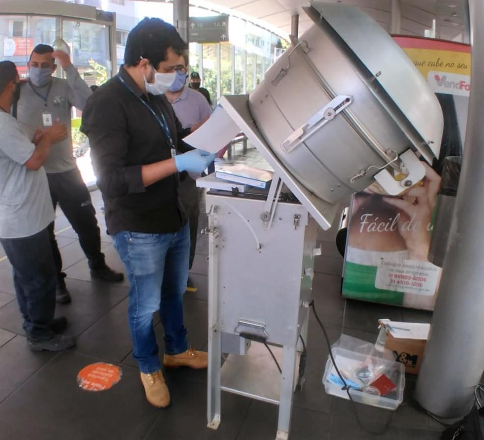 Pesquisa comprova presença do coronavírus no ar — Foto: Ricardo Passos/UFMG