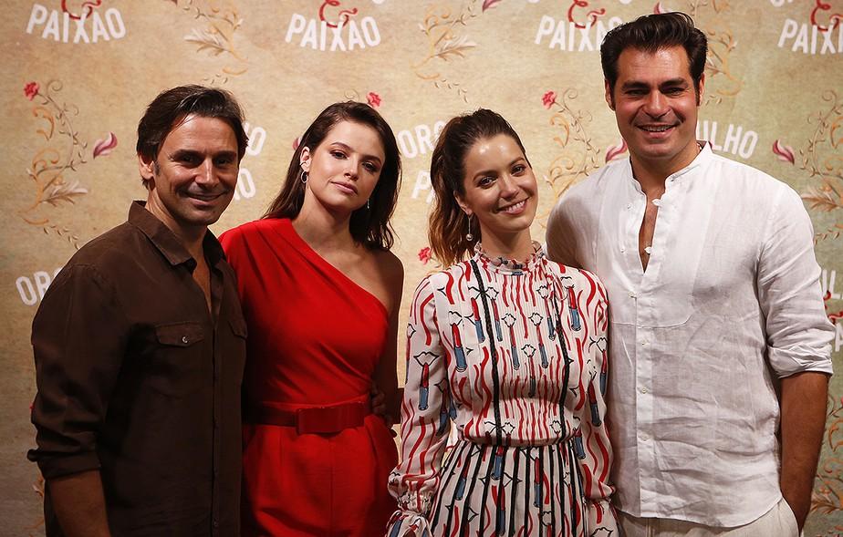 Coletiva de 'Orgulho e Paixão' reúne elenco, direção e autor