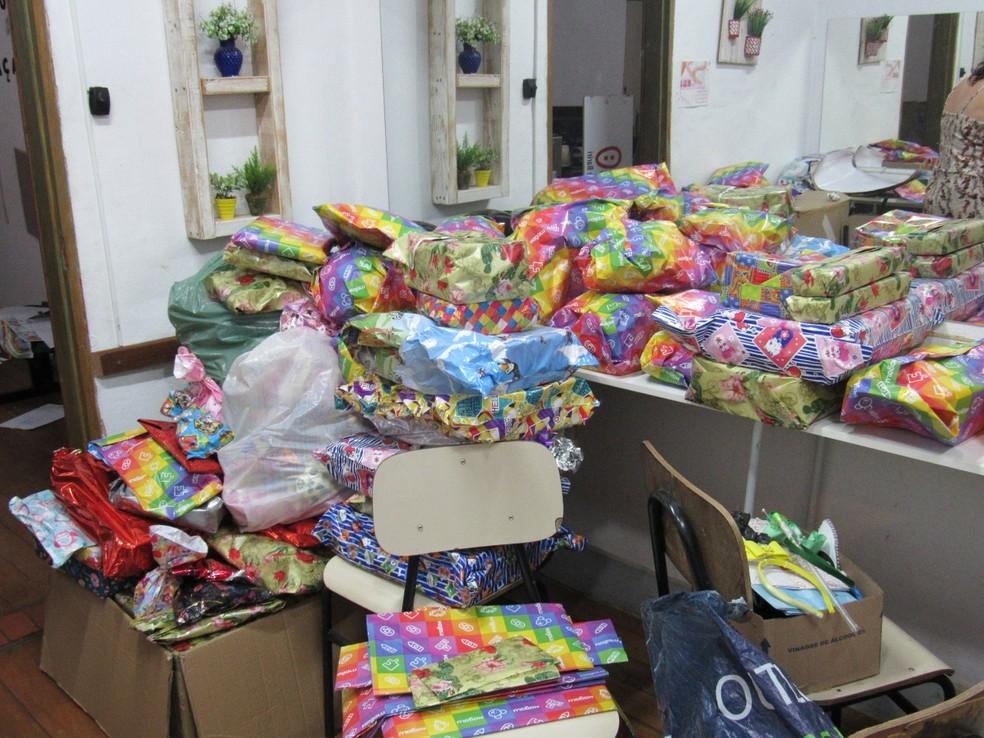 Foram doados 800 brinquedos que ser?o distribu?dos no Dia das Crian?as em Bariri  ? Foto: Jefferson Viana/ Arquivo pessoal