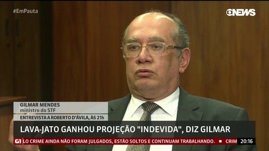 Lava Jato ganhou projeção exagerada e indevida, diz Gilmar Mendes