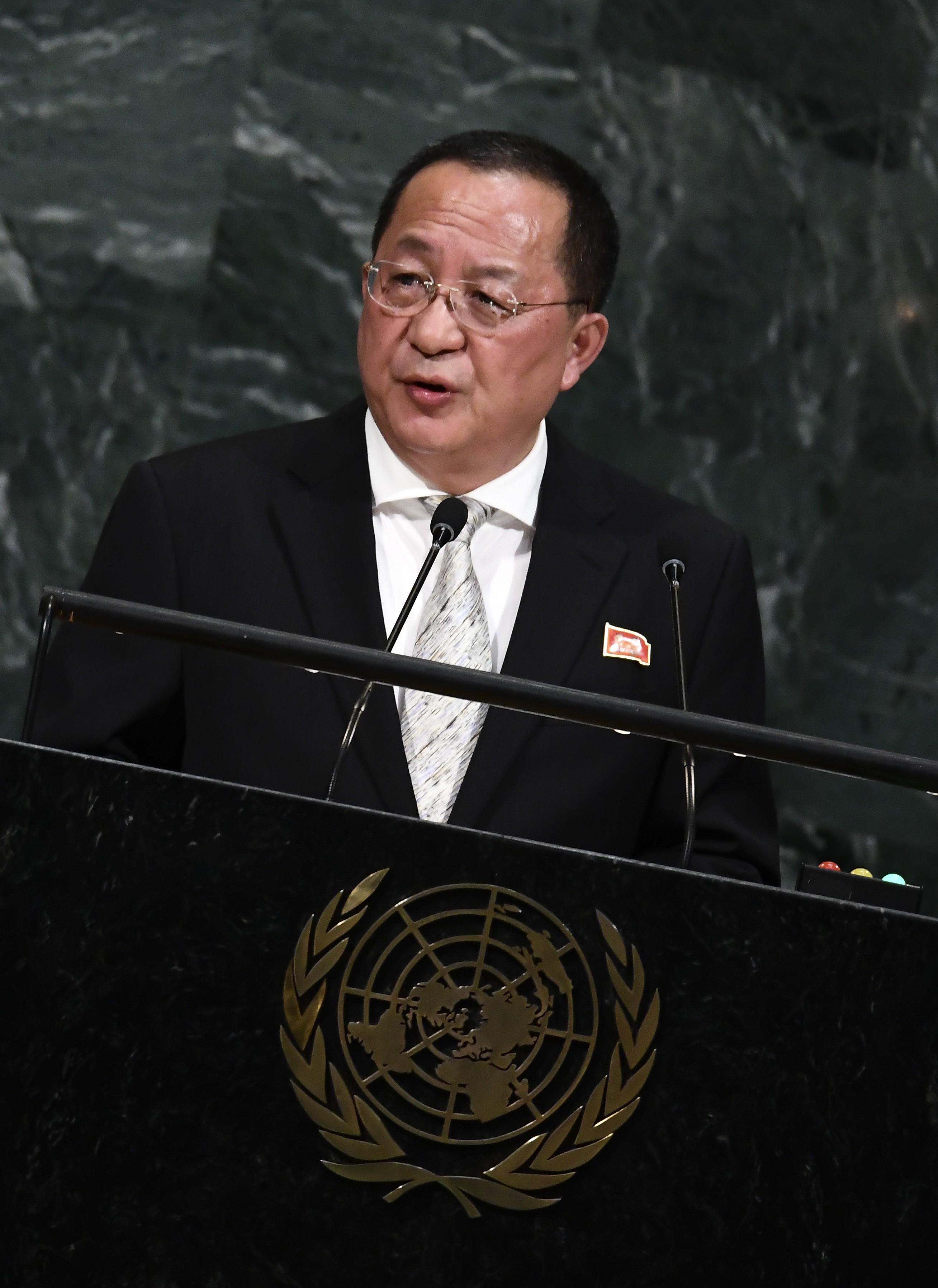 Ofensas de Trump tornam ataque contra os EUA inevitável, diz chanceler norte-coreano