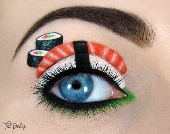 Maquiagem de sushi (Foto: @tal_peleg/Instagram)