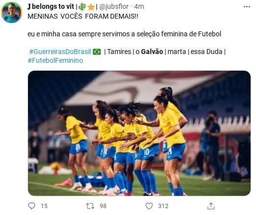 Internauta comenta partida da seleção feminina nas Olimpíadas  (Foto: Reprodução)