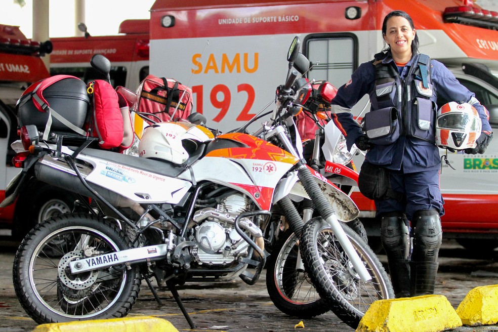 Motolância, serviço de motocicleta do Samu (Foto: Aldo Carneiro/Pernambuco Press)