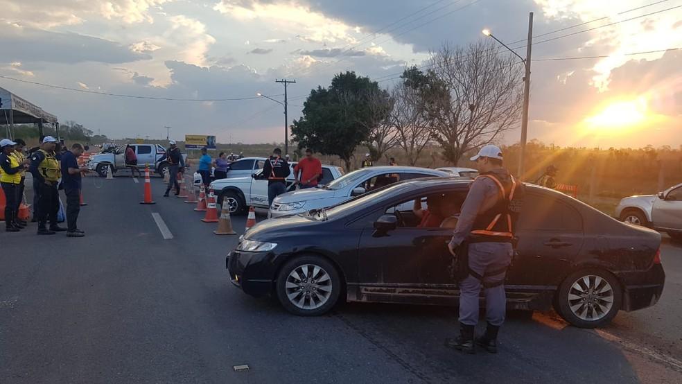 Operação Lei Seca prendeu 3 motoristas embriagados e apreendeu 11 carros na MT-251 entre Chapada dos Guimarães e Cuiabá — Foto: Polícia Militar de Mato Grosso/Assessoria