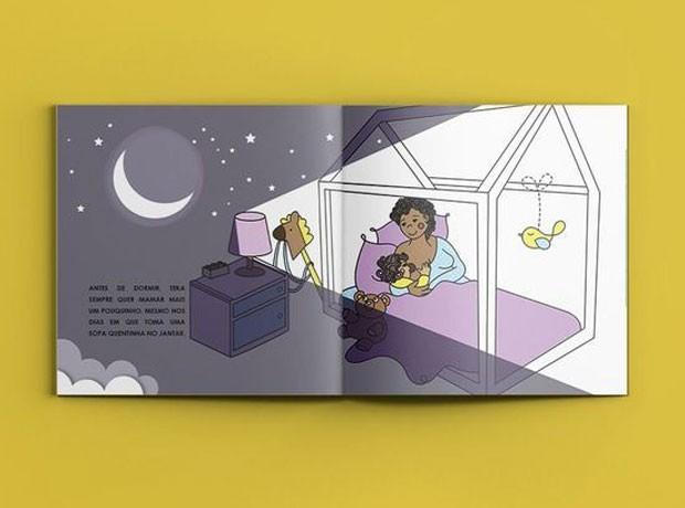 Página interna do livro: desmame conduzido de forma gentil (Foto: Divulgação)
