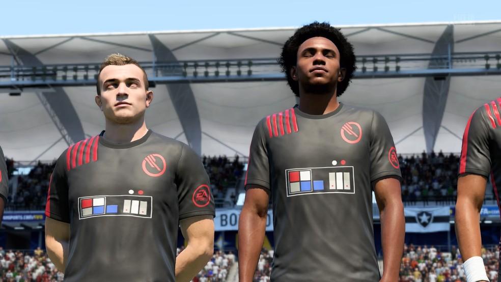 Camisas de Star Wars: Battlefront 2 em FIFA 18 (Foto: Diego Borges / TechTudo)