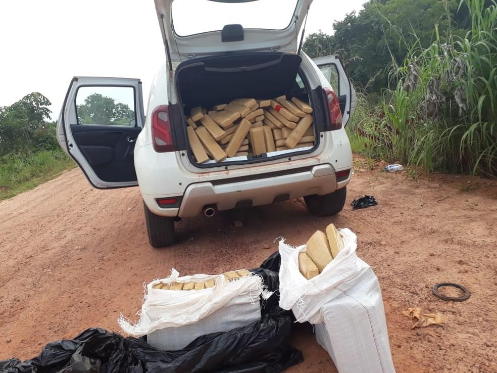 Mais de 300 quilos de droga é apreendido em carro na BR-158, no sudeste do Pará. — Foto: Divulgação / Polícia Civil