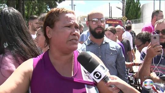 Mãe de aluna diz que filha e estudantes evitaram entrada de atirador em sala
