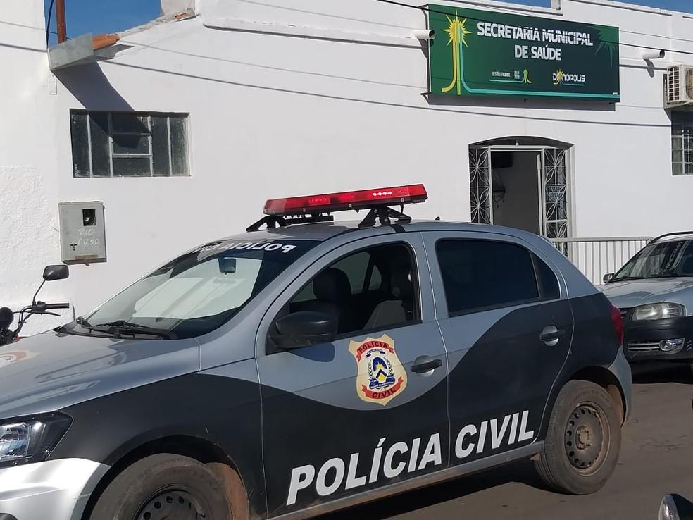 Polícia Civil faz operação contra fraudes em licitações no município de Dianópolis — Foto: Divulgação