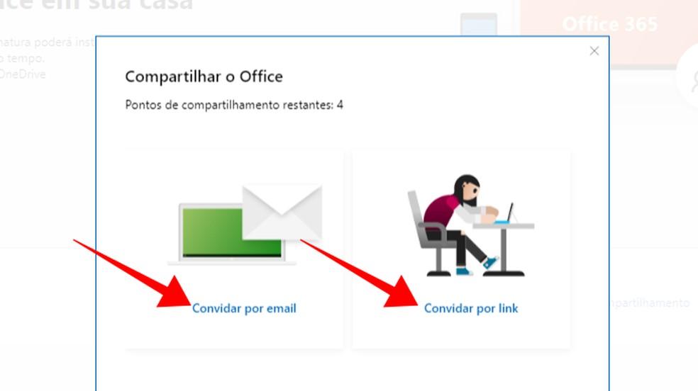 Envie um convite por e-mail ou link — Foto: Reprodução/Paulo Alves