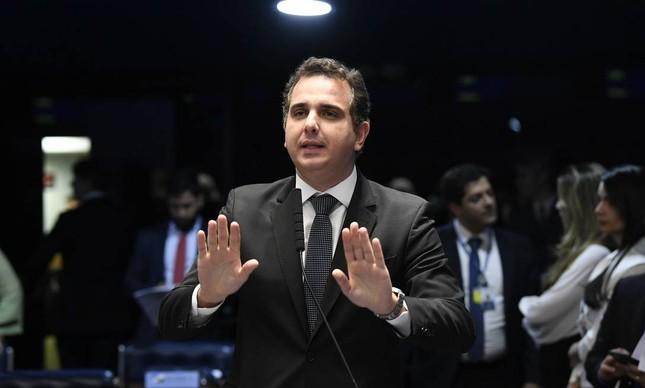 O presidente do Senado, Rodrigo Pacheco: esforço contra criação da CPI da Covid