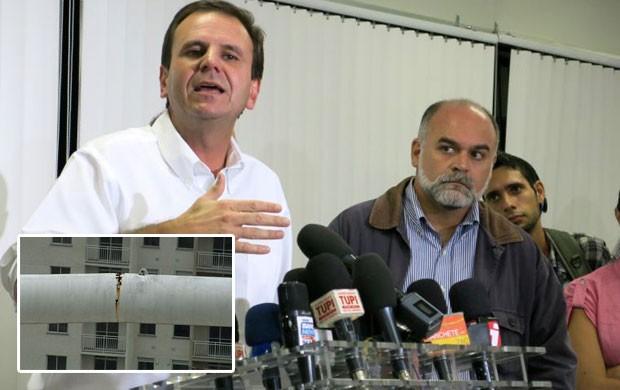 Estádio não apresenta risco, disse prefeito, em 2010, sobre o Engenhão