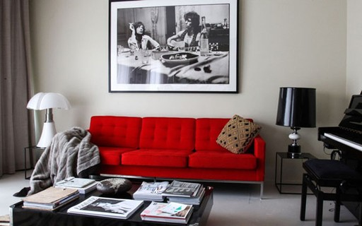 Gray Walls And Brown Couch